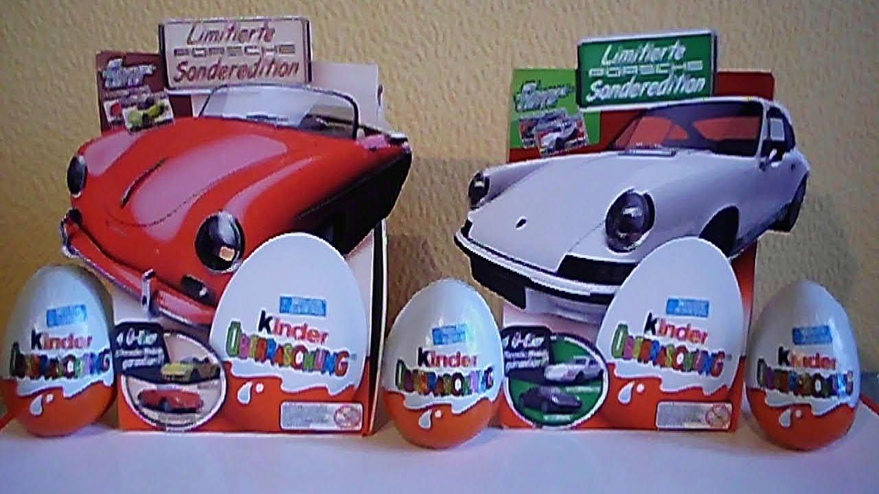 8 kinder surprise choco eggs porsche cars limited edition. Black Bedroom Furniture Sets. Home Design Ideas