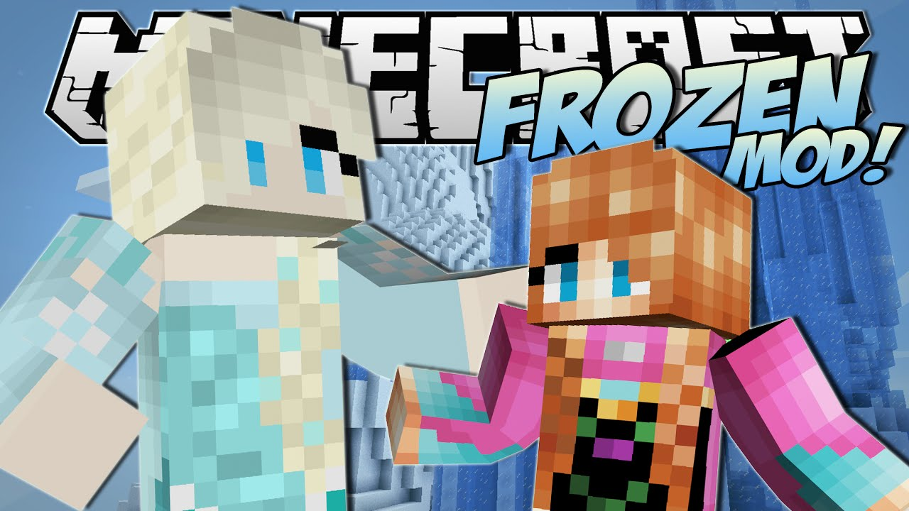Minecraft Frozen Mod Anna Elsa Ice Powers More Mod Showcase Youtube