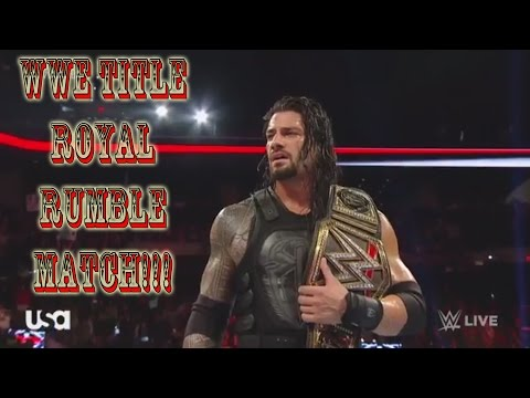 Roman Reigns Defends WWE Title In Royal Rumble 2016 Reaction