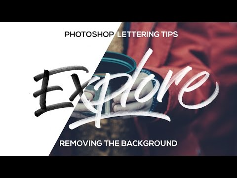 How to REMOVE the BACKGROUND from LETTERING - Photoshop Tutorial