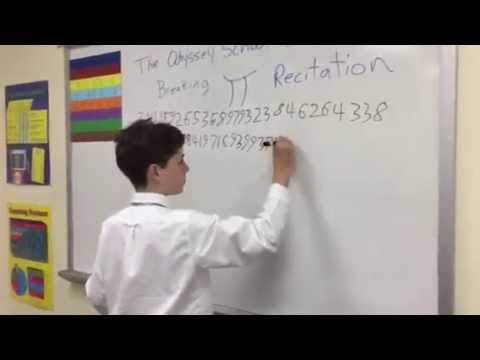 Robert's Pi Record for the Odyssey School