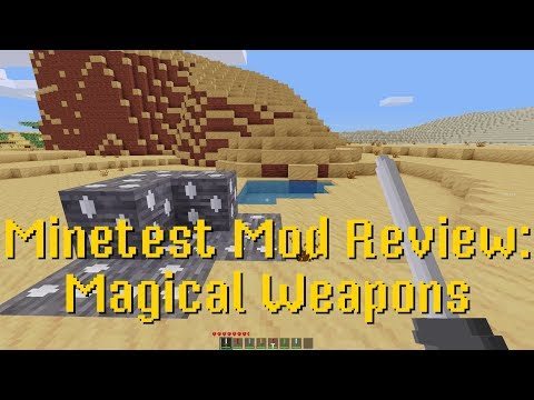 Minetest Mod Review: Magical Weapons : Minetest