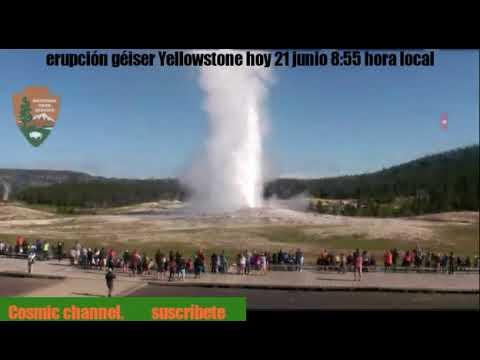 Yellowstone en vivo hoy géiser erupción 8:55 am▶English subtitles
