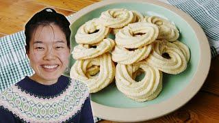 Crisp Homemade Butter Cookies By June   Delish