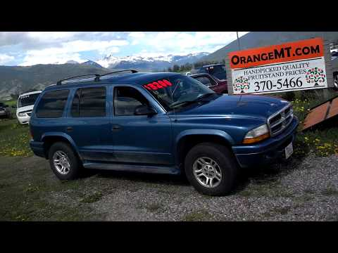2003 dodge durango 4×4 171k salvage title for sale montana $2995