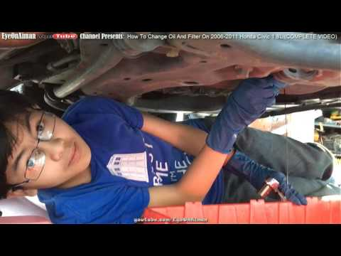 How To Change Oil And Filter On 2006-2011 Honda Civic 1.8L DIY Do It Yourself (FULL VIDEO)