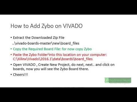 How to Add Boards on VIVADO (How to Add Zybo Board on VIVADO)