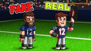 Roblox NFL - FAKE TOM BRADY VS REAL TOM BRADY! (Patriots vs Bills)