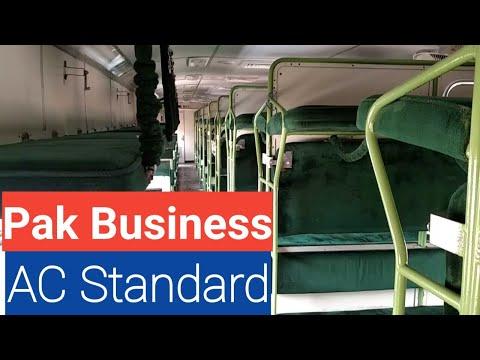 AC Standard Pakistan Railway/ Pak Business Express Train/ Train Tickets Price Informations