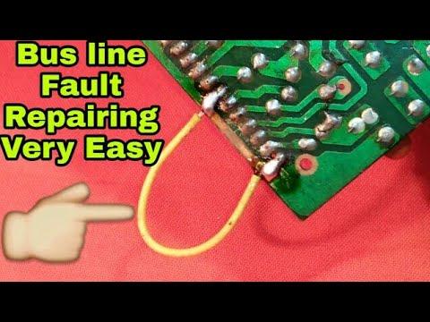 PCB bus line fault repairing || circuit board bus line damage repairing