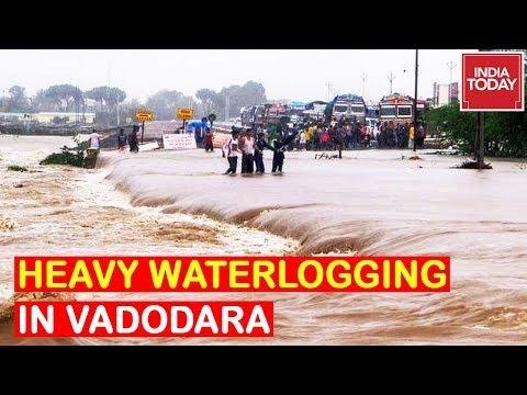 Heavy Waterlogging In Gujarat's Vadodara, MeT Predicts More Heavy Rain