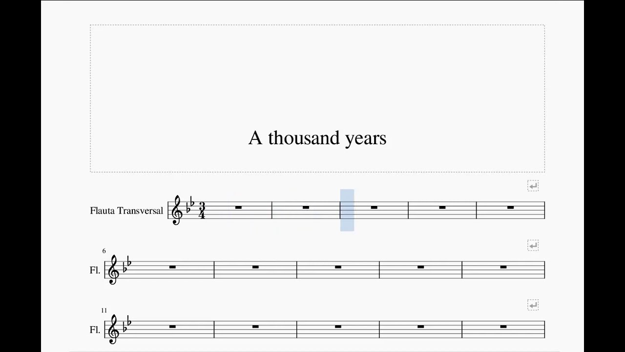 Christina Perri - A Thousand Years Flute Sheet Music