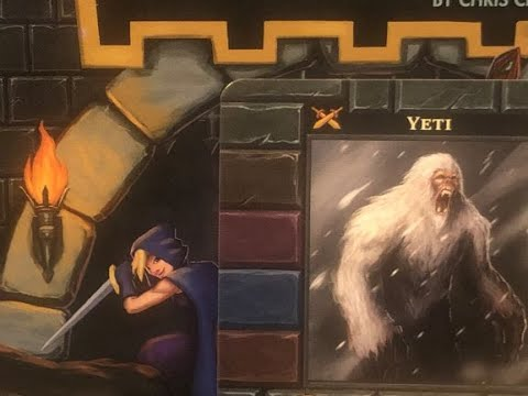 One Deck Dungeon Rogue v Yeti Rd 1 2/4 |