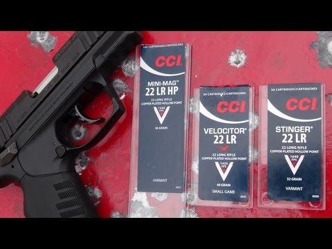 Ruger SR22 Pistol:  CCI Hypervelocity Ammo Session