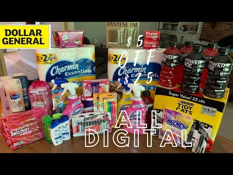 DOLLAR GENERAL $5 OFF $25 // 42 ITEMS FOR JUST $1.02 CENTS EACH 🙏😍🥰