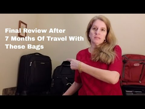 CARRY-ON BAGS REVIEW - After 7 Months of Travel