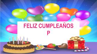 P Happy Birthday Wishes & Mensajes
