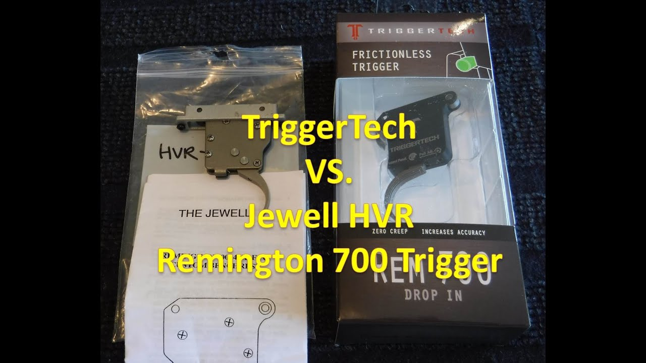 TriggerTech Trigger vs Jewell HVR Trigger for Remington 700
