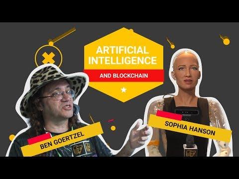 Artificial intelligence (AI) & Blockchain. Ben Goertzel and Sophia (Humanoid) Hanson