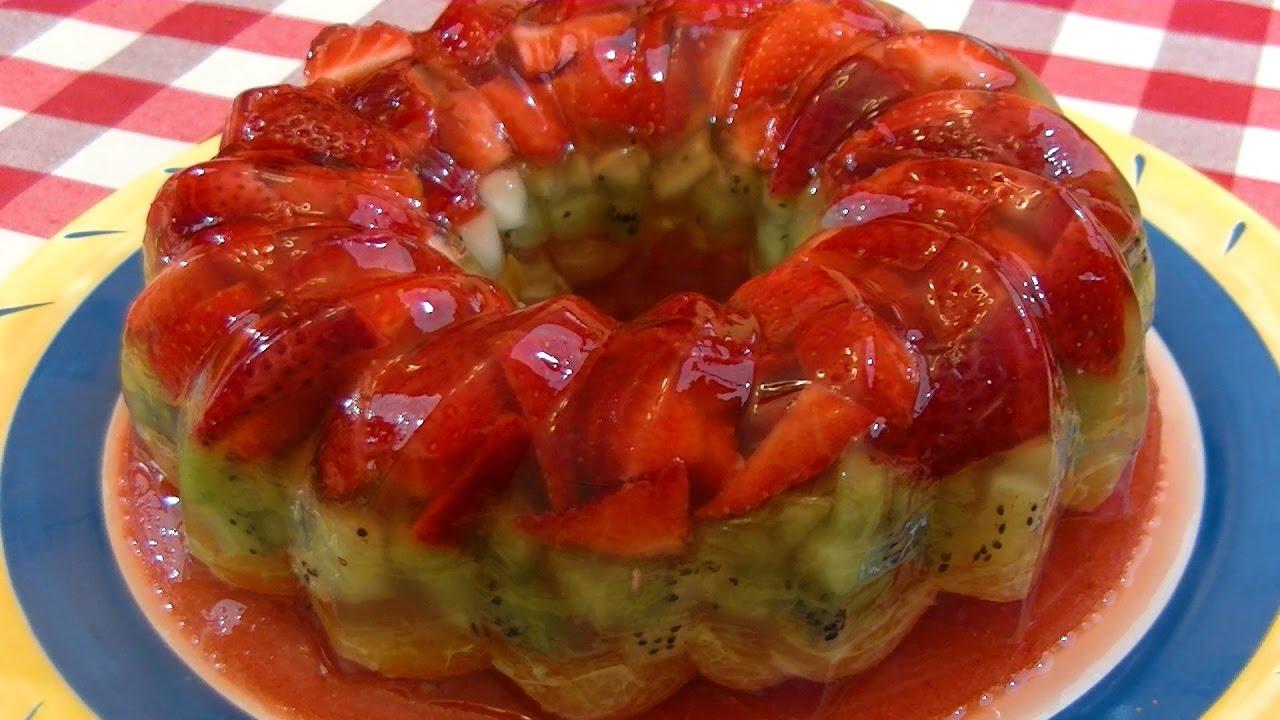 Gelatina Con Frutas