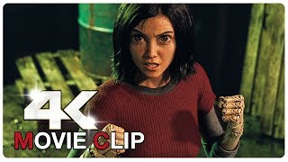 Alita Vs Cyborgs - Fight Scene - ALITA BATTLE ANGEL (2019) Movie CLIP 4K
