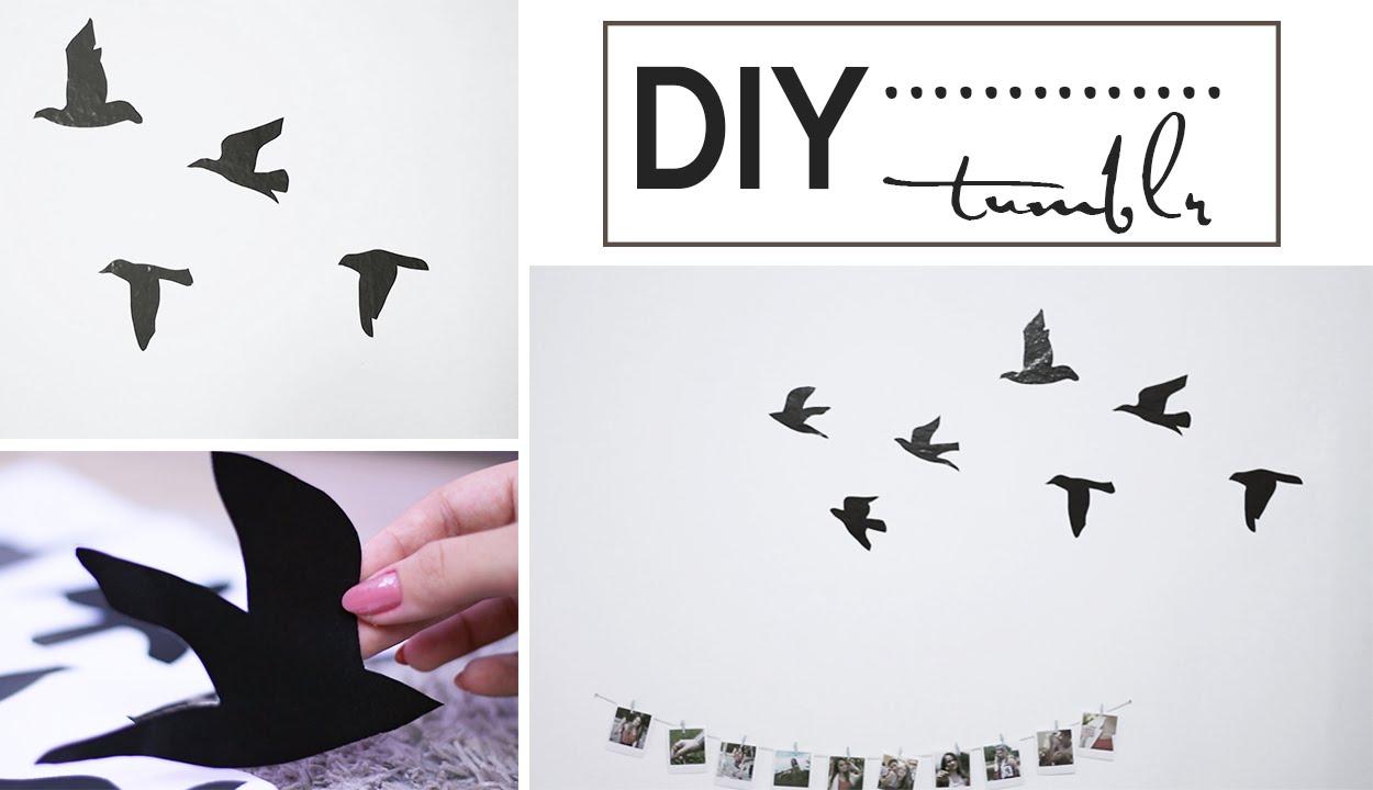 diy adesivo de parede passarinhos tumblr youtube