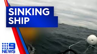 Fishermen survive boat sinking off Two Rocks I 9News Perth