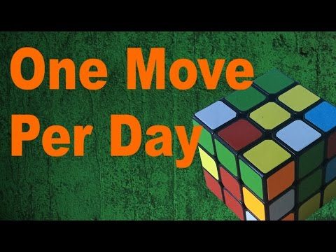 Solving a Rubik's Cube- 1 Turn Per Day