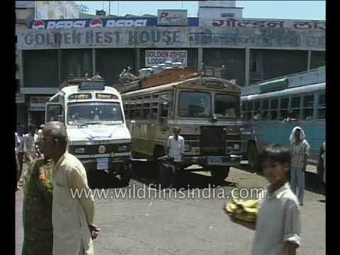 Bhopal Market, Traffic And Bus Stand In 1990's Kamla Park: Archival Footage