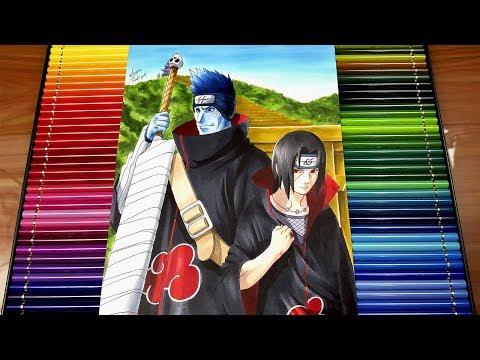 Drawing ITACHI and KISAME   NARUTO #NARUTUBRO