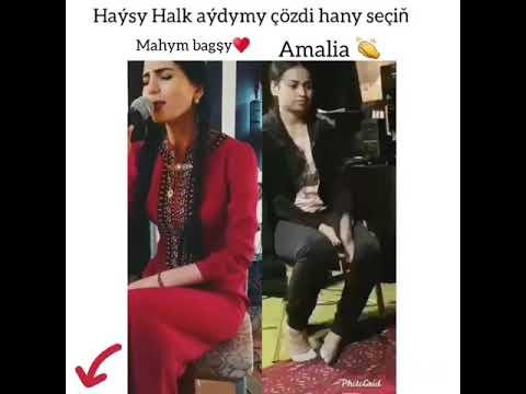 MAHYM BAGŞY VS AMALİA HALK AYDYM ÝARYŞY #hantube#mahymbagshy#amalia