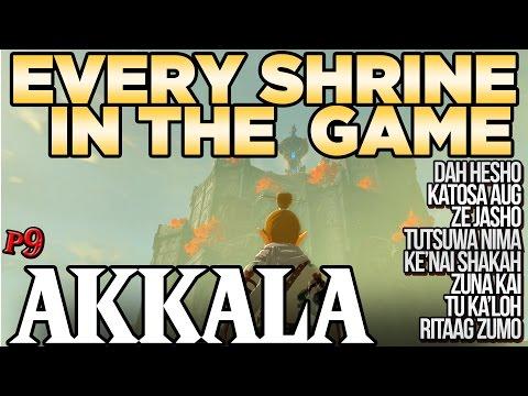 Every Shrine in Akkala Tower - Shrine Hunters - Breath of the Wild   Austin John Plays