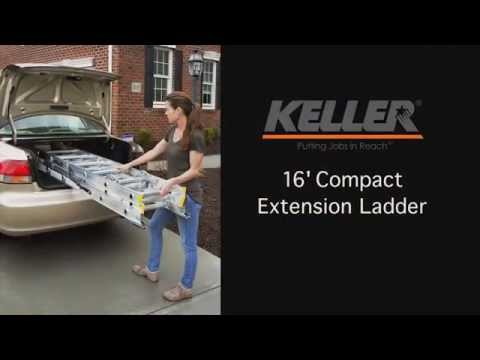 Keller Compact Extension Ladder Youtube