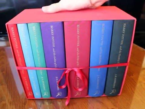 eBay RARE Harry Potter Deluxe Hardcover UK/Bloomsbury Vol 1-7 Box Set In Slipcase
