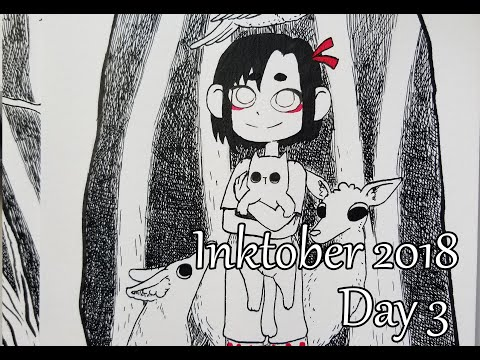 Inktober. Day 3. Animals In The Magic Forest