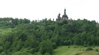 Шамордино монастырь.Калужская обл.,Козельский р-н.(Святые места.Красивейший вид на монастырь.Река называется