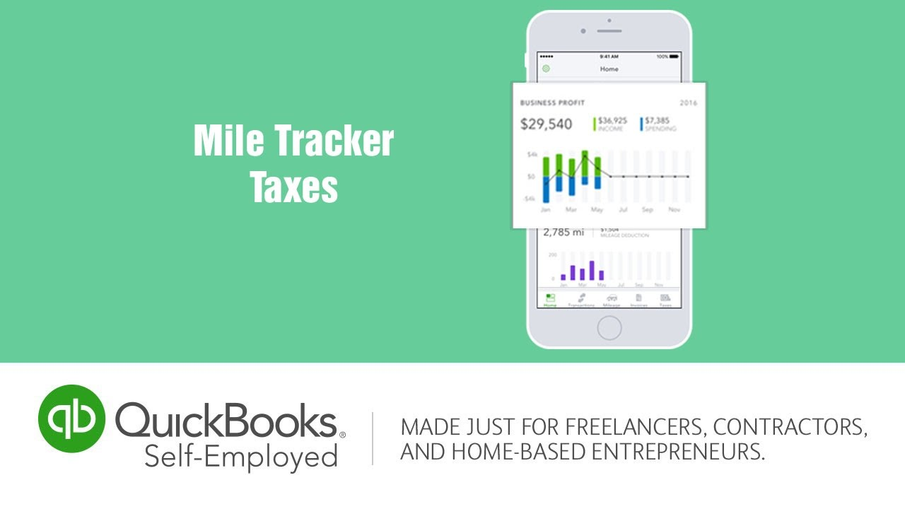 quickbooks self employed mile tracker taxes youtube