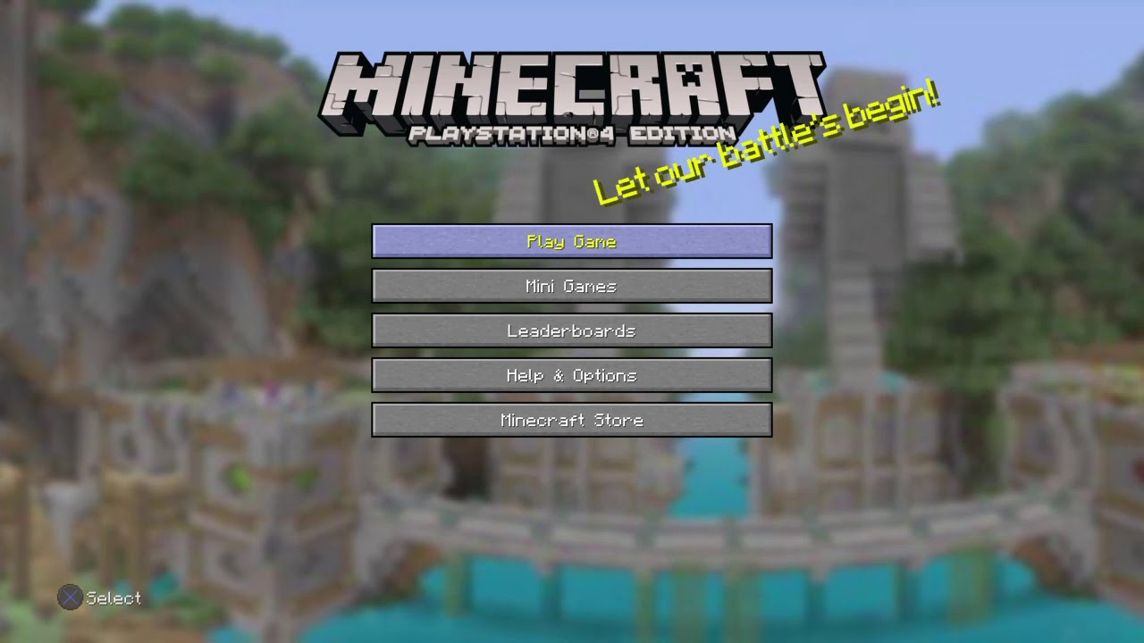 Minecraft Ps4 Title Screen Youtube
