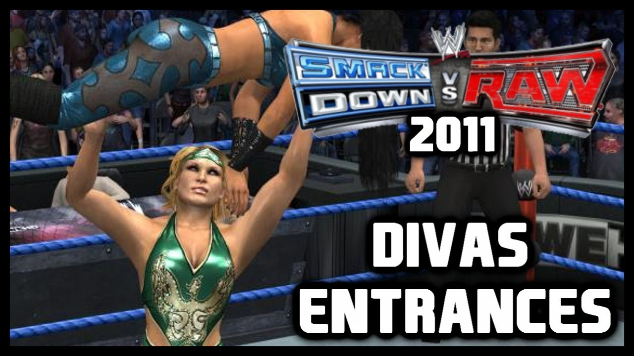 Wwe Smackdown Vs Raw 2011 Divas Entrances Dlc Youtube