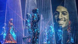 Mirror family laser show - Michael Jackson tribute performance