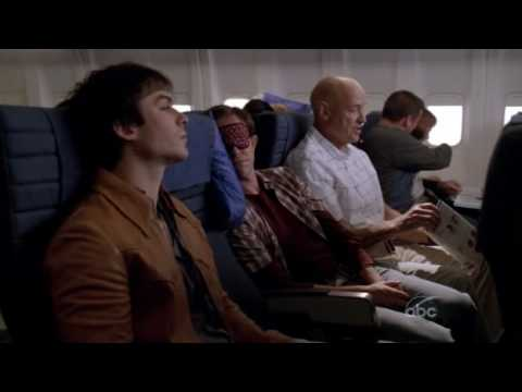 LOST: Boone and Locke having a conversation on Flight 815 [LA X 6x01-02]