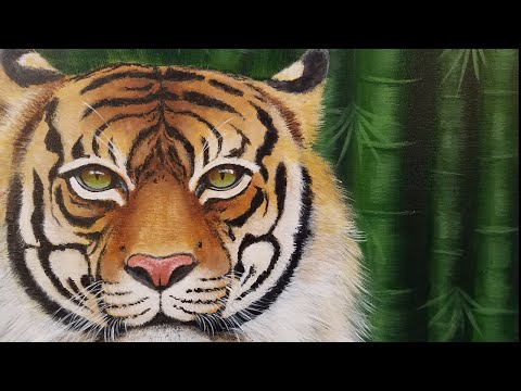 Learn how to paint a TIGER Step by Step Realistic Acrylic Painting Tutorial LIVE