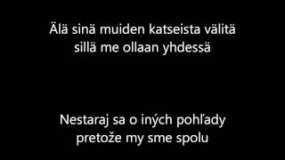 Jenni Vartiainen - Ihmisten edessä (Slovak translation/Slovenský preklad)