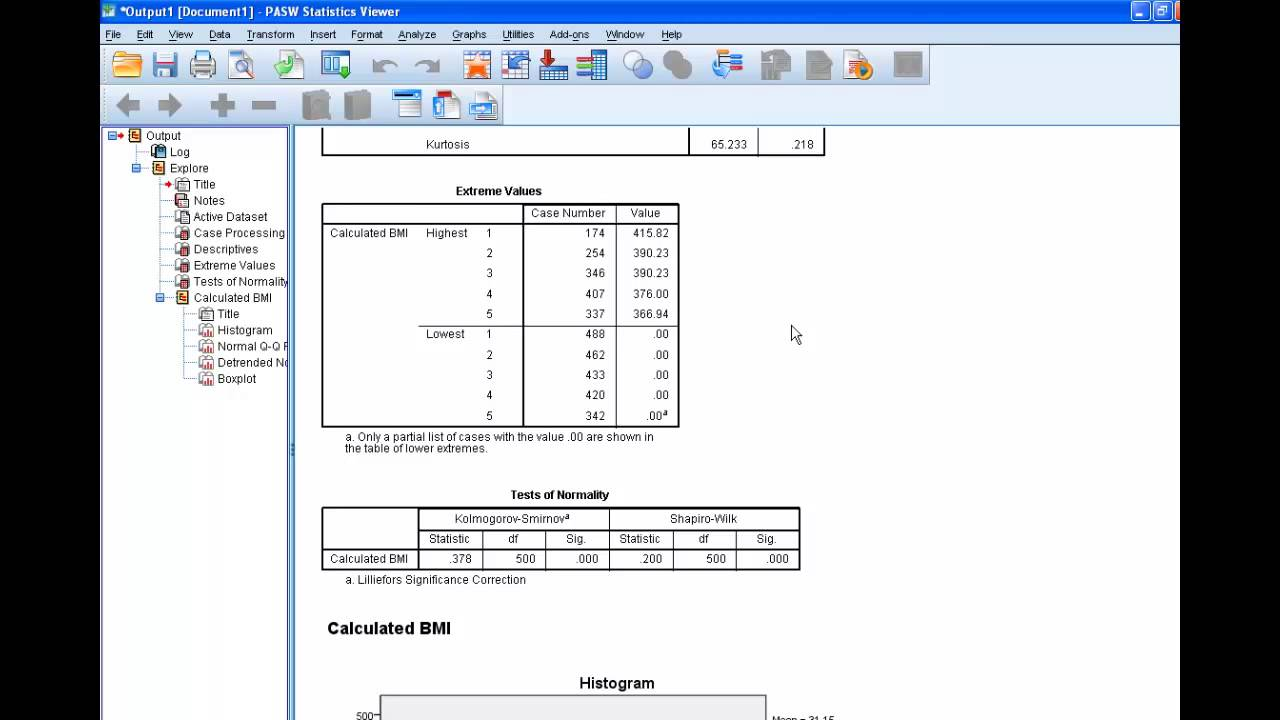 How Topute Bmi In Spss