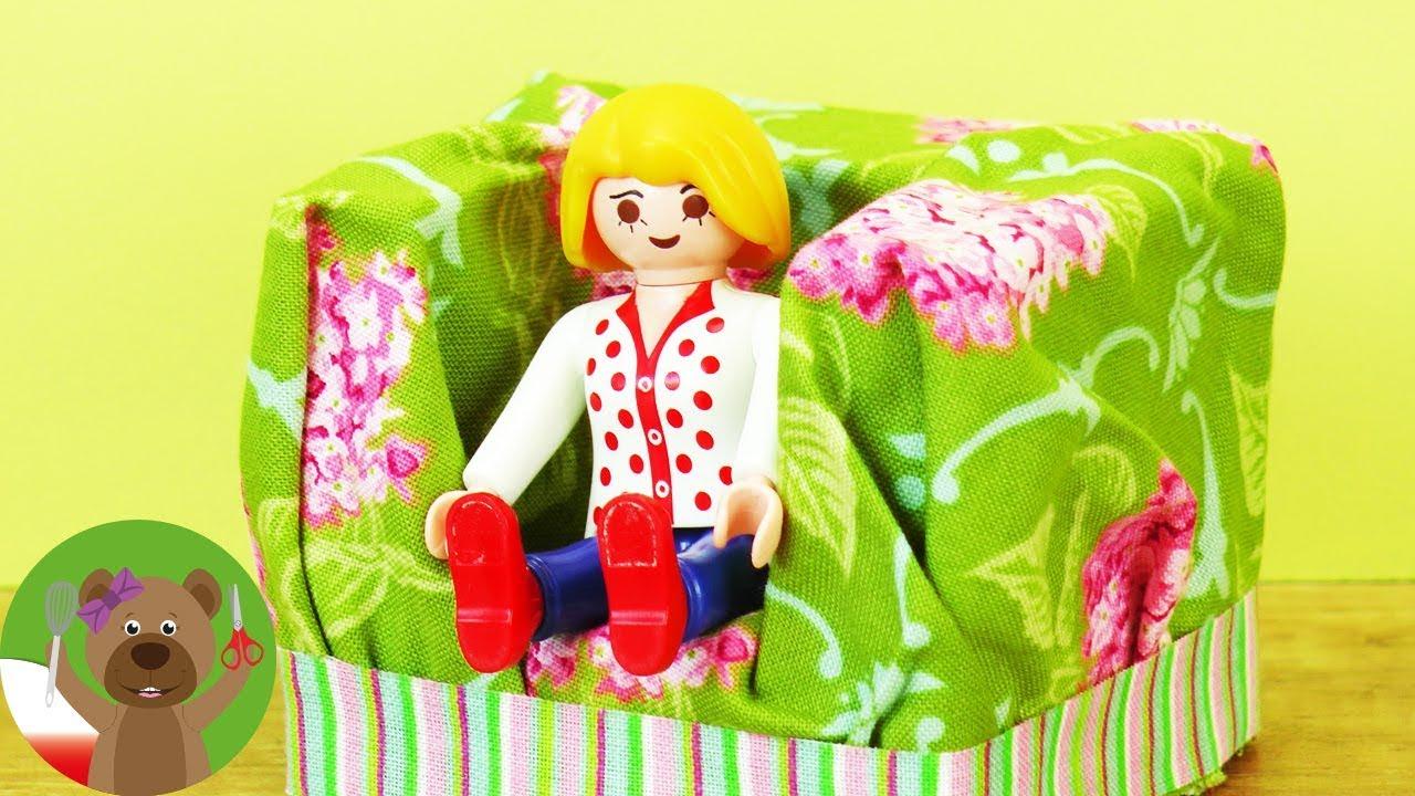 DIY fotel dla ludzików Playmobil | urządzamy salon rodziny Playmobil | DIY Playmobil Ideas