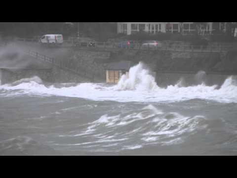 Castle beach Falmouth Storm