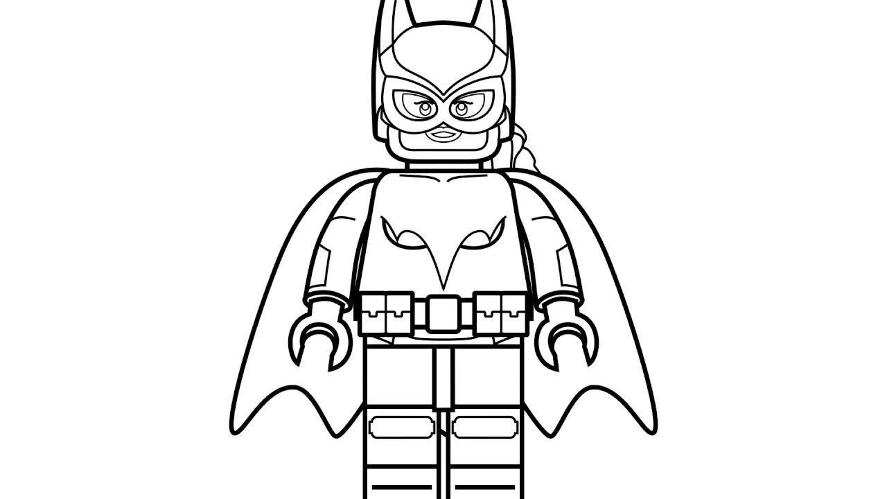 Lego Batman and spiderman Coloring Pages for Kids Learn ...