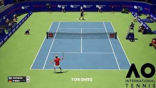 Stefanos Tsitsipas vs Alexander Zverev - AO International Tennis - PS4 Gameplay