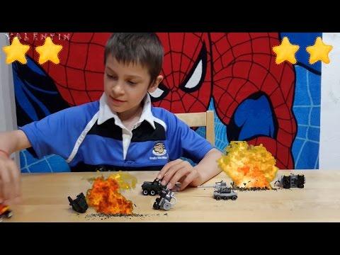 Нападение Десептиконов на #Автоботы 🎬 Съёмки фильма про Роботов #Трансформеры Игры для мальчиков