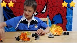 Игры для мальчиков. Дополнительная реальность, LEGO, Война танков, тушим пожар на поле боя.